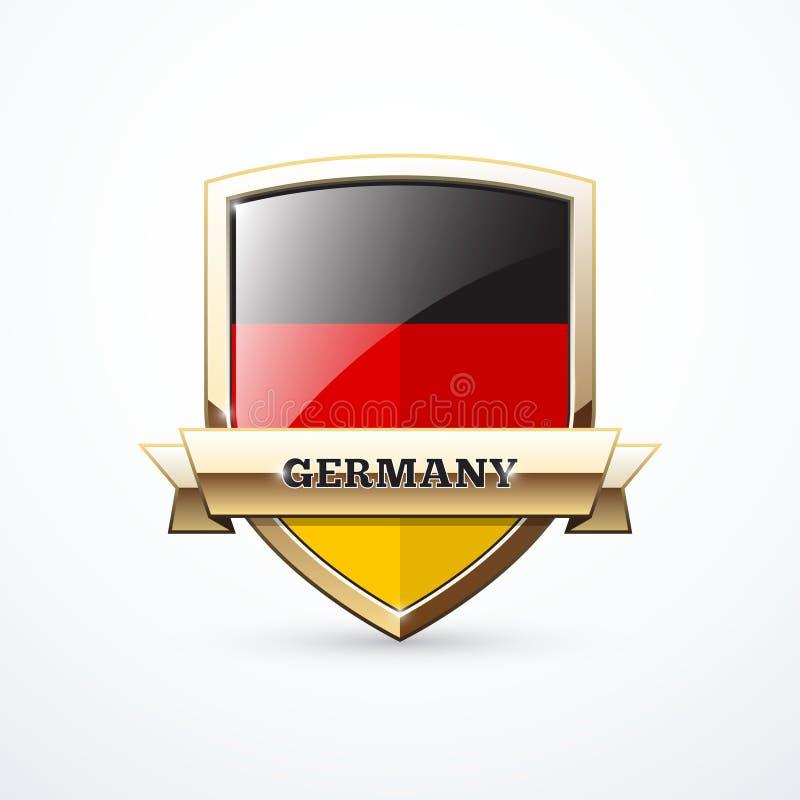 Bouclier de l'Allemagne d'or illustration stock