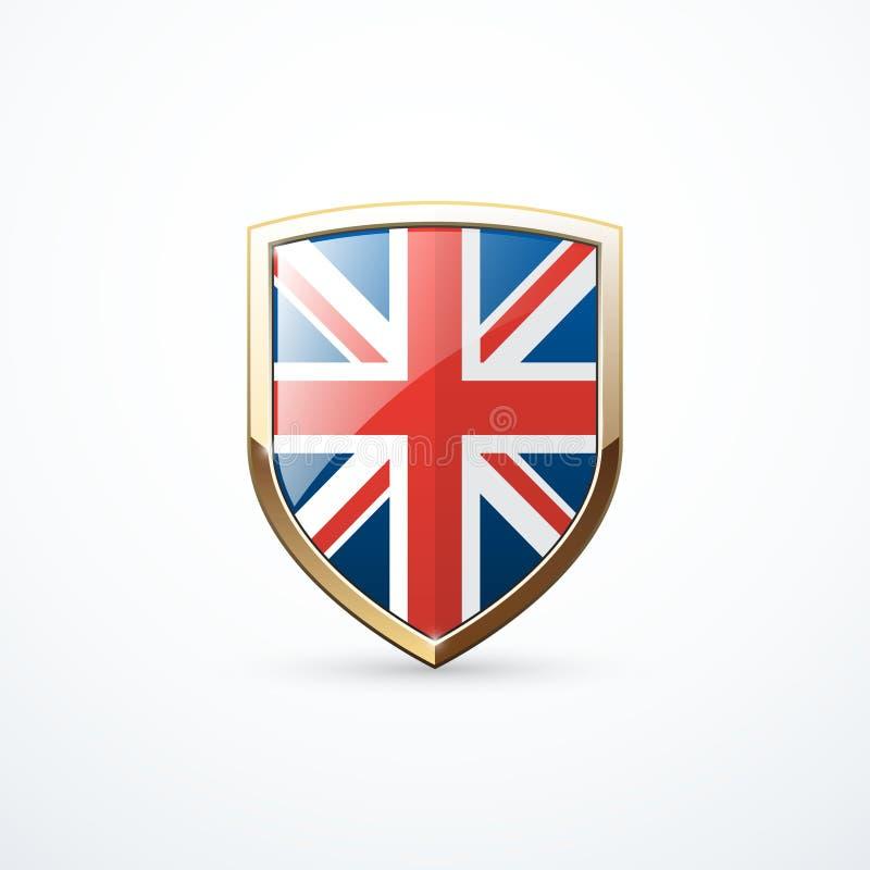 Bouclier de l'Angleterre d'or illustration libre de droits