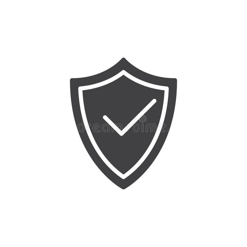 Bouclier de protection avec le vecteur d 39 ic ne de coche - Symbole de protection ...