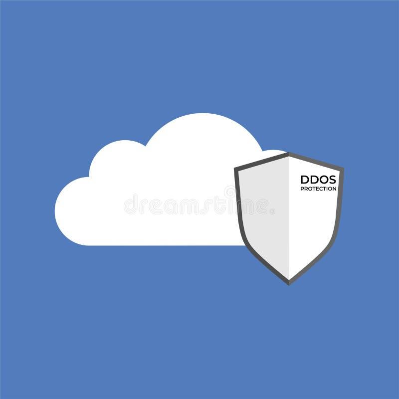 Bouclier de protection de DDoS sur le dossier illustration libre de droits