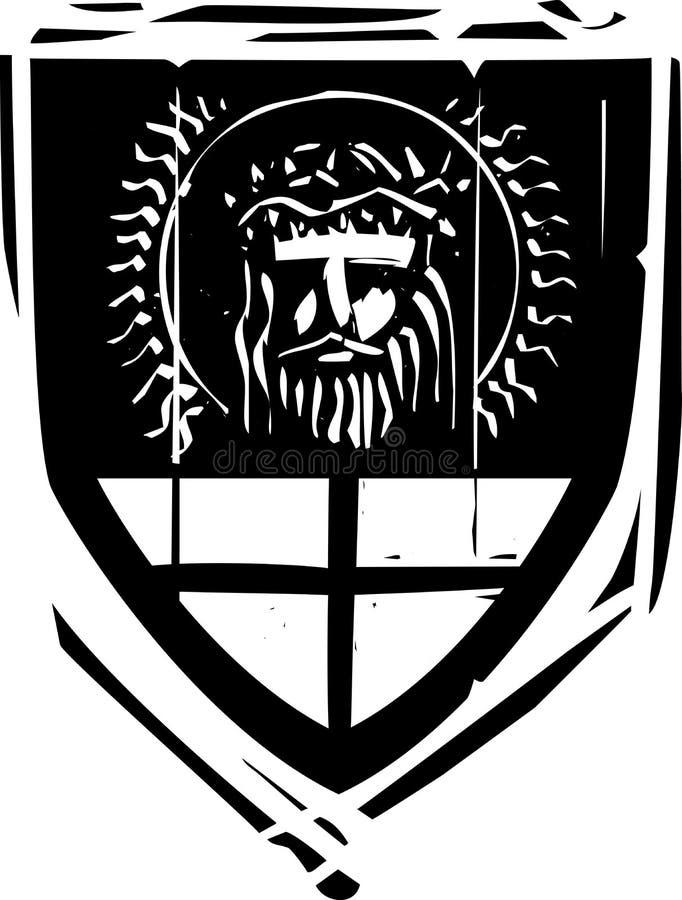 Bouclier héraldique le Christ illustration stock
