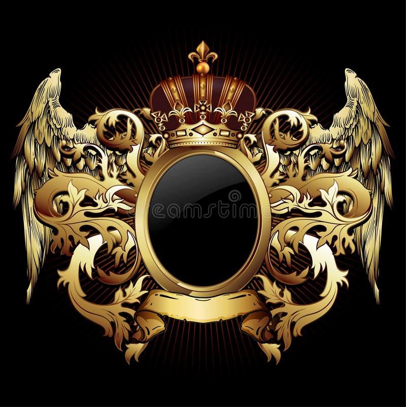 Bouclier héraldique ornemental Illustration fortement réaliste illustration de vecteur