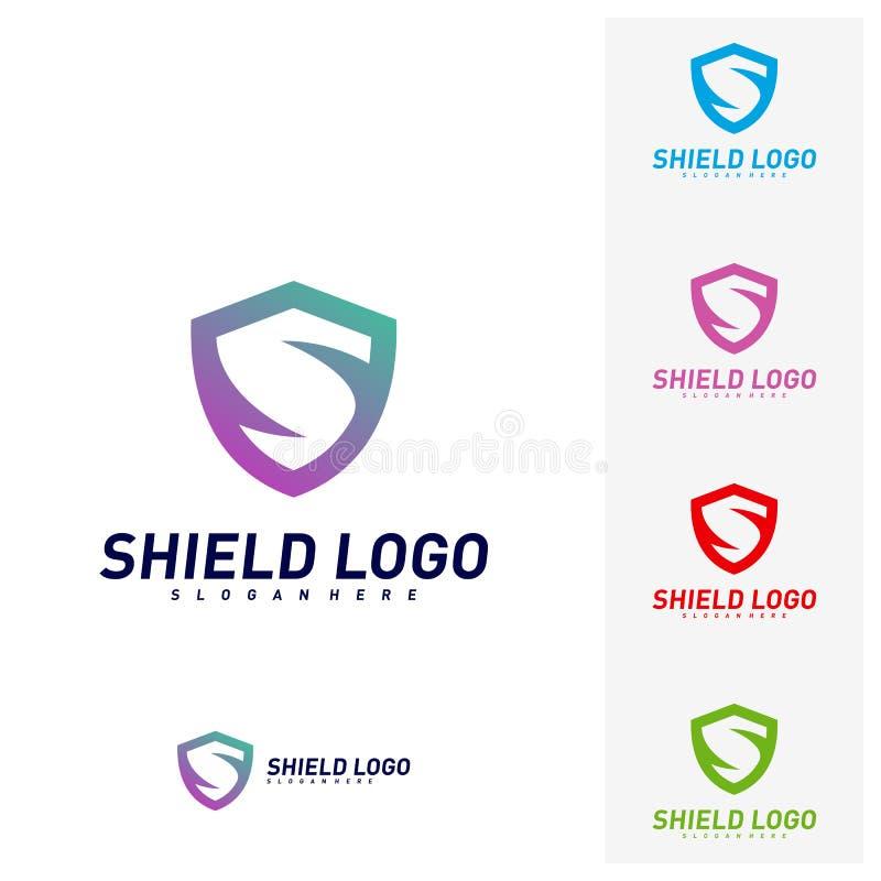 Bouclier initial Logo Design Concepts de S Conception d'illustration de vecteur de bouclier de lettre de S Symbole d'ic?ne illustration libre de droits