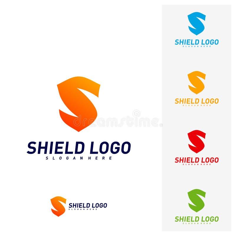 Bouclier initial Logo Design Concepts de S Conception d'illustration de vecteur de bouclier de lettre de S Symbole d'ic?ne illustration stock