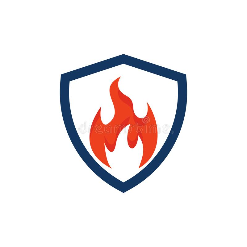 Bouclier Logo Icon Design de brûlure illustration stock
