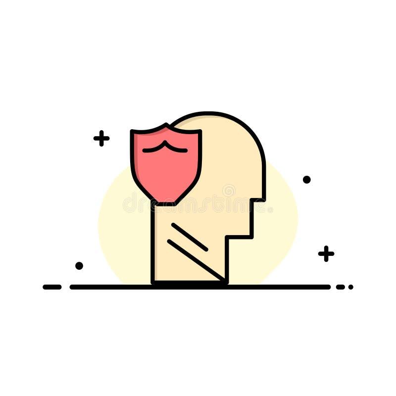 Bouclier, sûr, masculin, utilisateur, affaires Logo Template de données couleur plate illustration stock