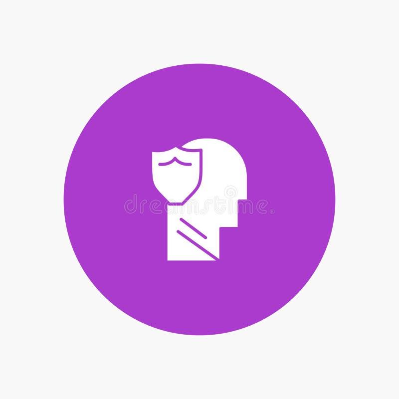 Bouclier, sûr, masculin, utilisateur, données illustration de vecteur