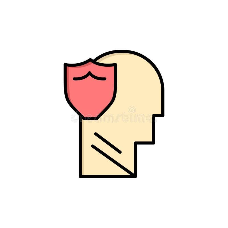 Bouclier, sûr, masculin, utilisateur, icône plate de couleur de données Calibre de bannière d'icône de vecteur illustration libre de droits
