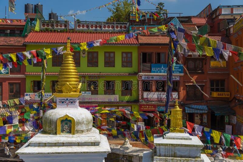 Boudanath es el stupa más grande de Katmandu, Nepal fotografía de archivo