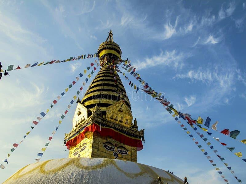 Boudanath-stupa, Kathmandu stockbilder
