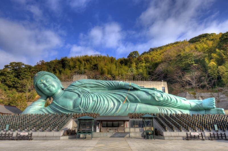 Bouddha étendu photographie stock