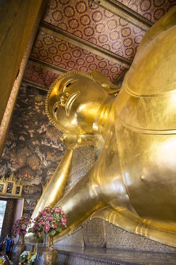 Bouddha étendu, Wat Pho image libre de droits