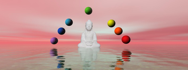 Bouddha illustration stock