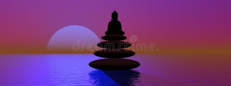 Bouddha illustration libre de droits