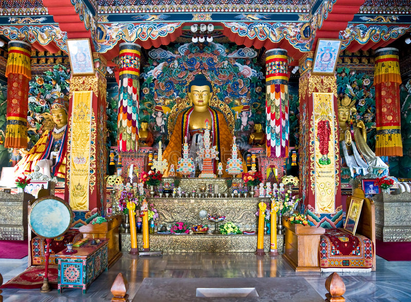 Bouddha, Bodhgaya, Inde. photo stock