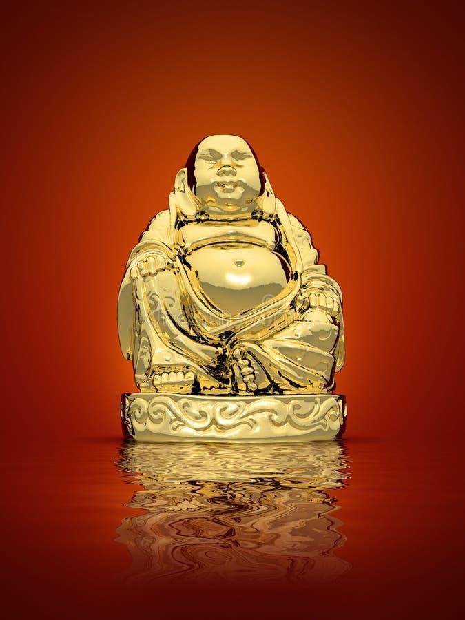 Bouddha d'or illustration libre de droits