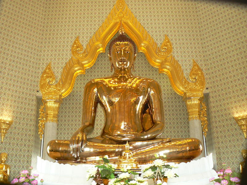 Bouddha d'or, temple de Wat Traimit, Bangkok, Thaïlande photo libre de droits