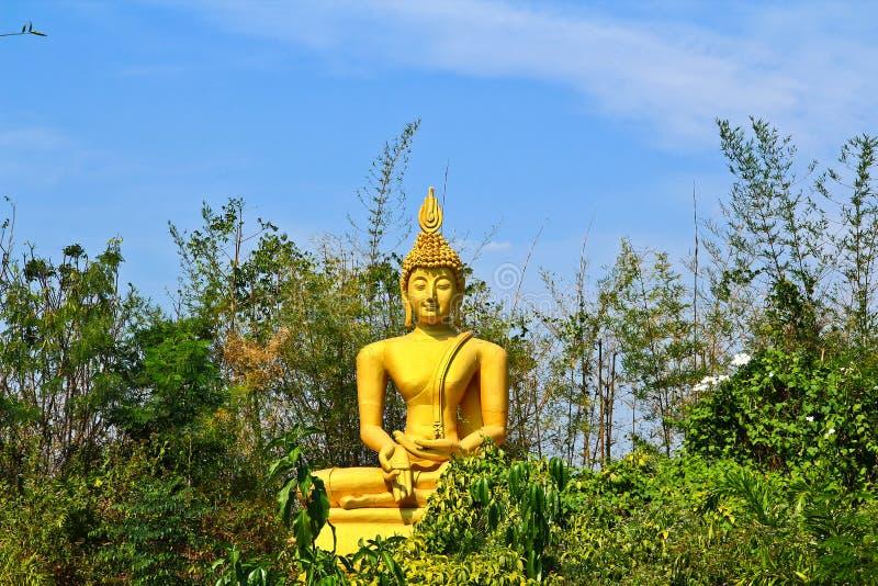 Bouddha Dans La Forêt Photographie stock