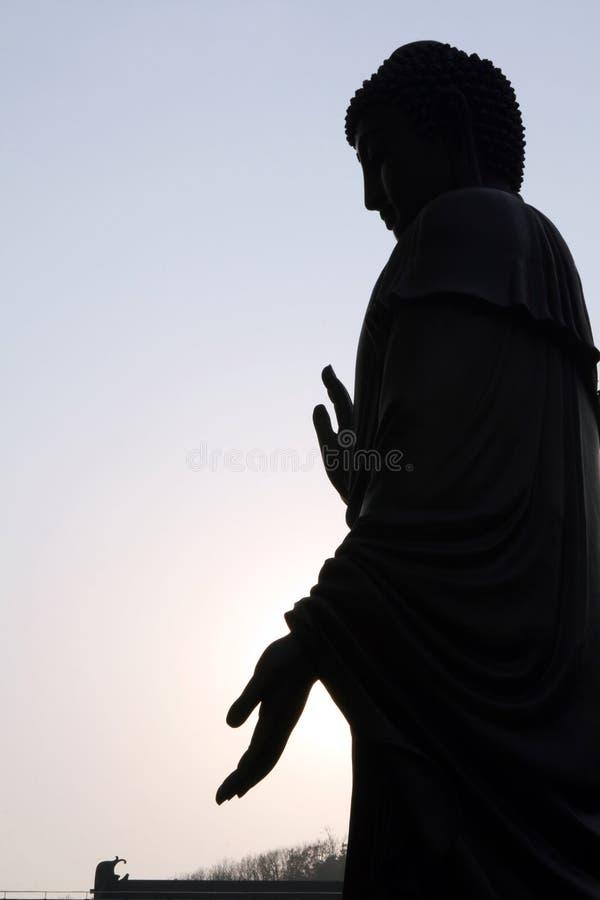 Bouddha dans le contre-jour photo libre de droits