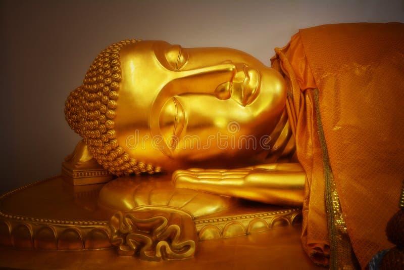 Or Bouddha de plan rapproché image stock