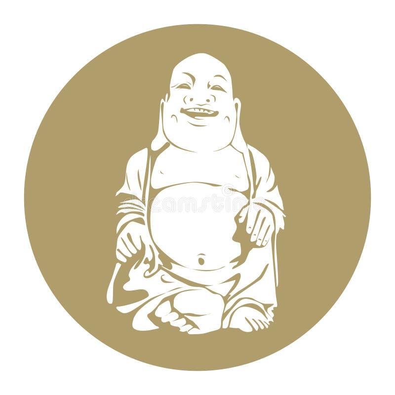 Bouddha de sourire illustration de vecteur