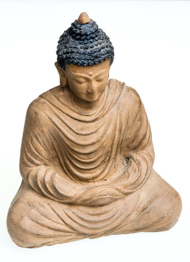 Bouddha en bronze. D'isolement sur le blanc. photo libre de droits
