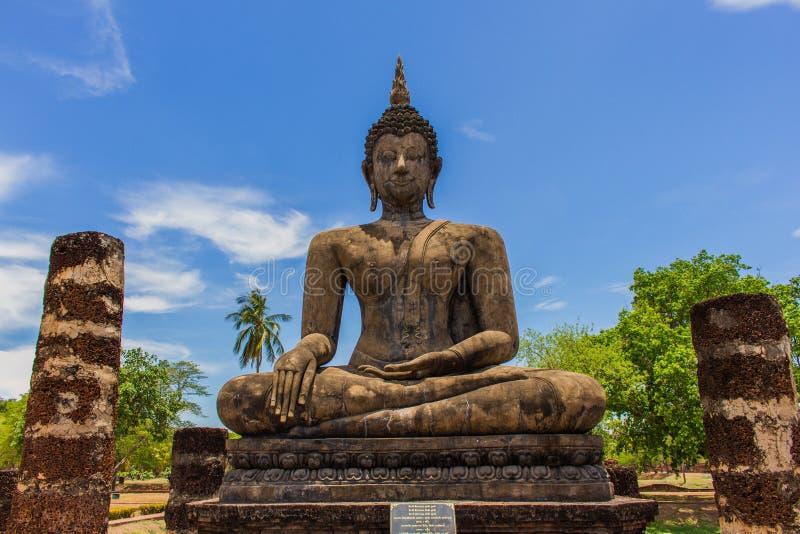 Bouddha en parc historique Thaïlande de sukhothai images stock