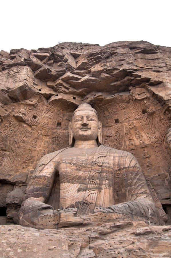 Bouddha en pierre géant, Yuangang foudroie, Datong photos libres de droits