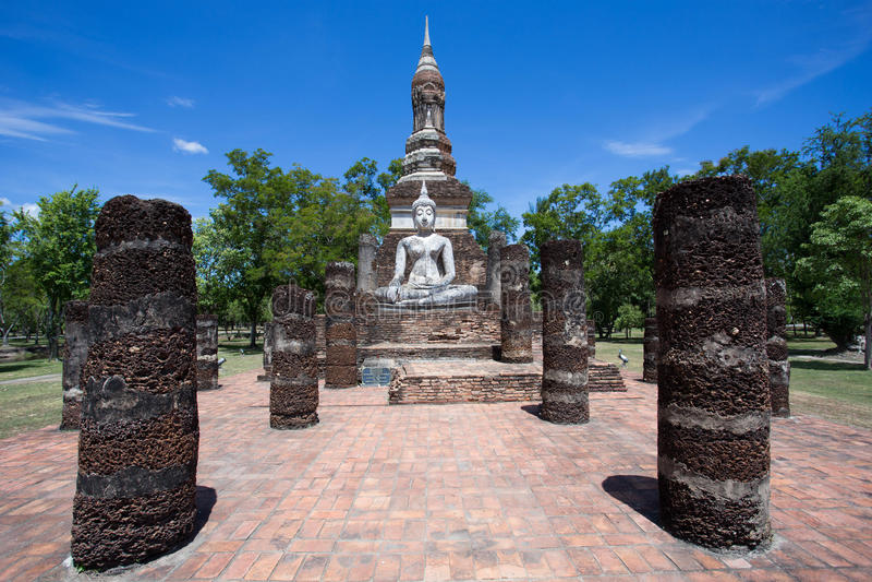 Bouddha en Wat Mahathat photographie stock