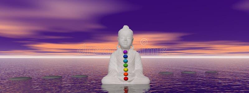 Bouddha et chakras illustration libre de droits