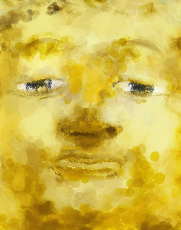 Bouddha font face à la peinture illustration libre de droits