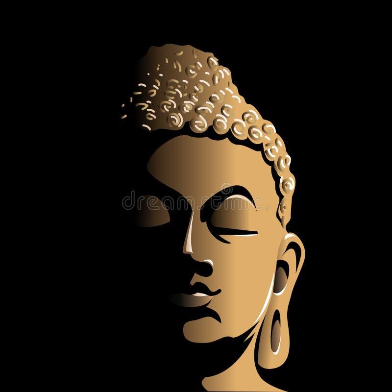 Bouddha font face illustration libre de droits
