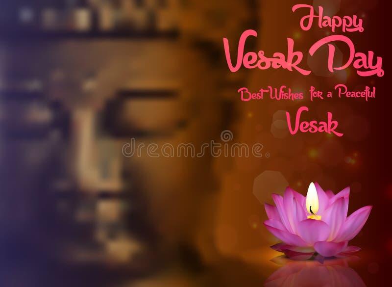 Bouddha Purnima ou fond de jour de Vesak illustration libre de droits
