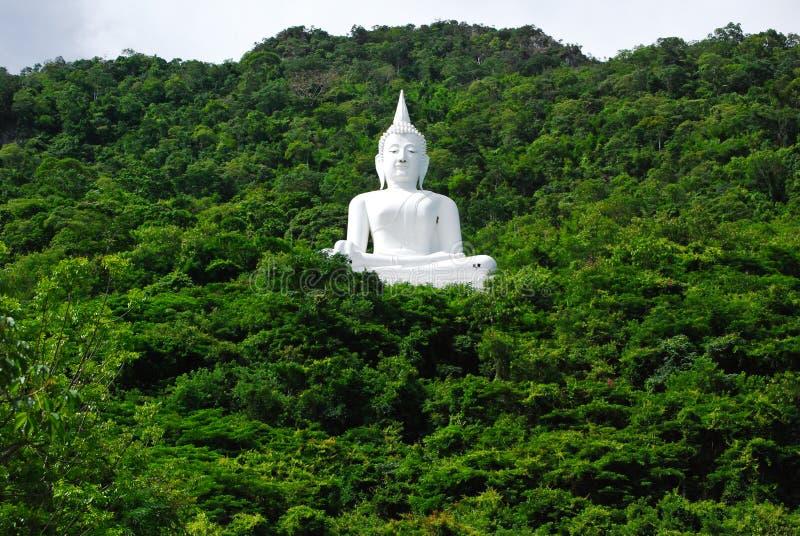 Bouddha s'asseyant sur la montagne photo libre de droits
