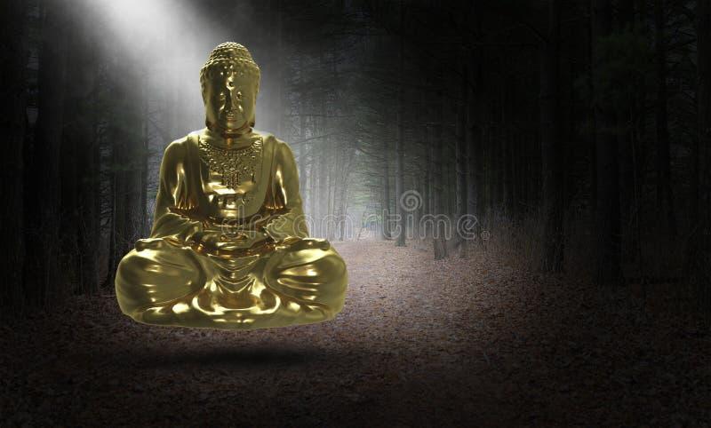 Bouddha surréaliste, Buddist, bouddhisme, statue, religion illustration libre de droits