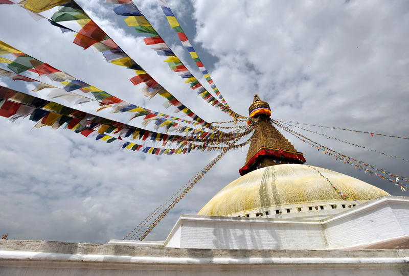 bouddhanath stupa 免版税库存图片