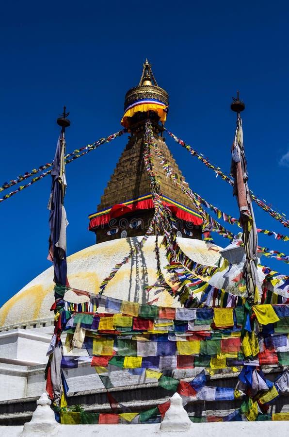 Bouddhanath Stupa arkivfoto