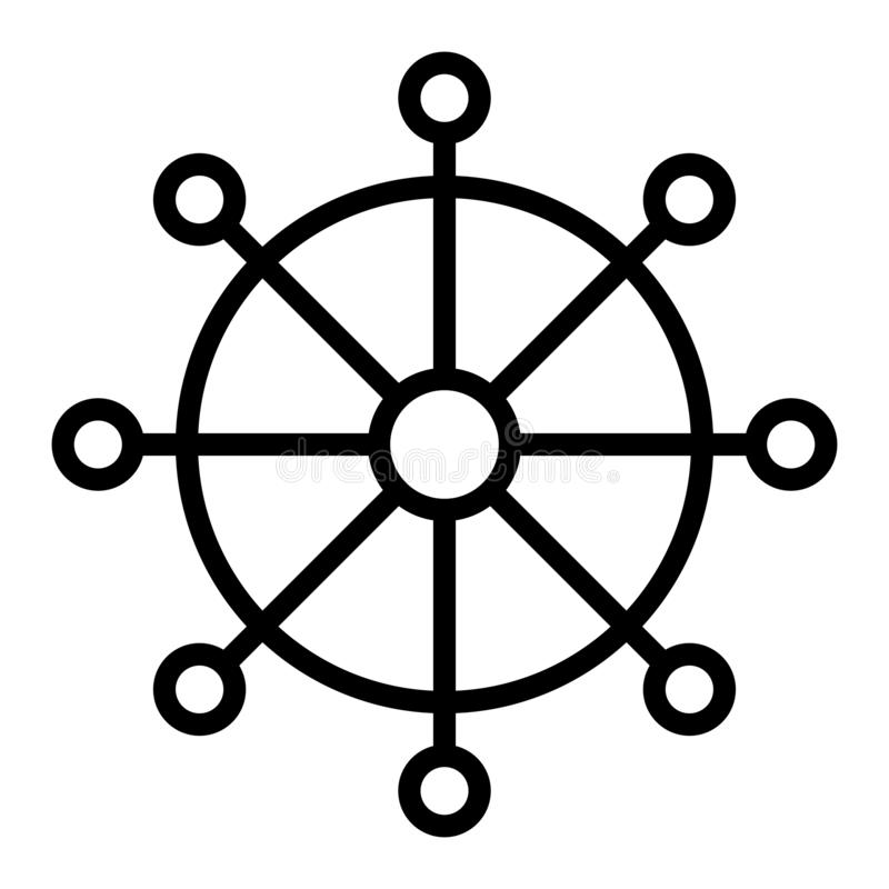 Bouddhisme devenant de mandala de renaissance de cycle de vie d'infini de fin de cycle illustration de vecteur