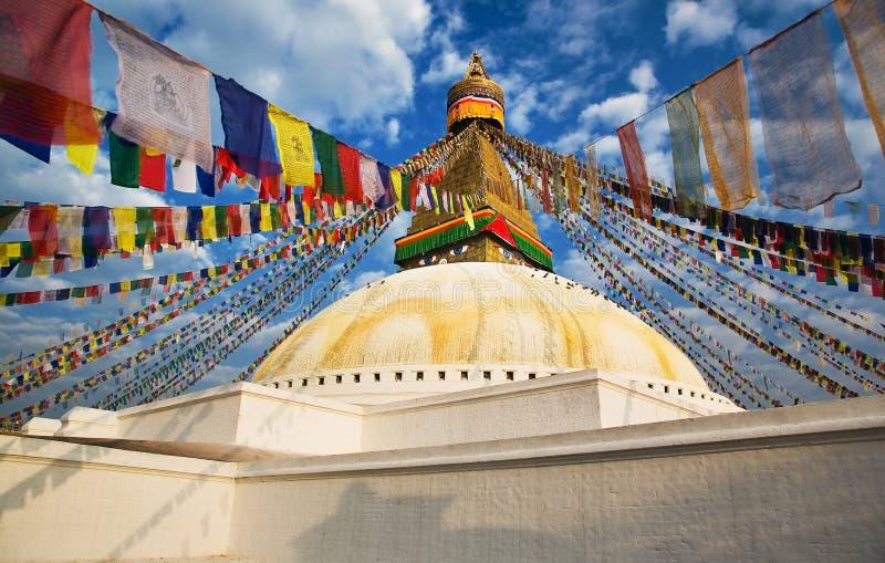 bouddhnath stupa fotografia stock