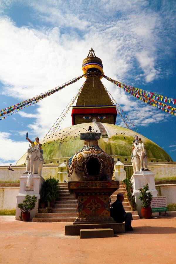 Boudha Stupa in Katmandu royalty-vrije stock foto's