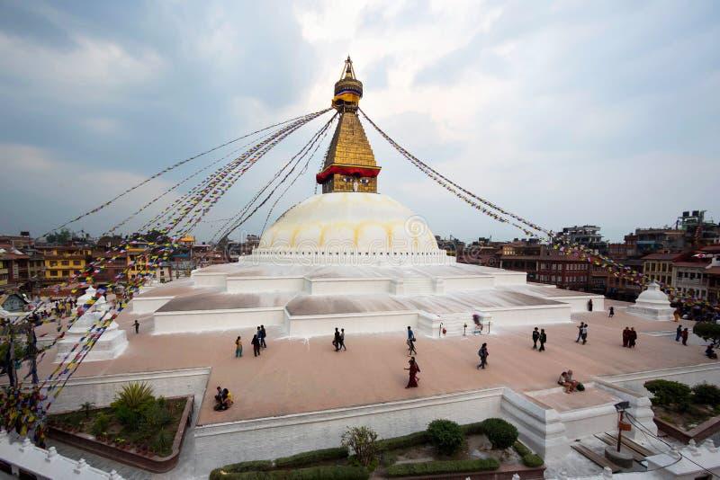 Boudhahath Stupa, Katmandu, Nepal lizenzfreie stockfotos