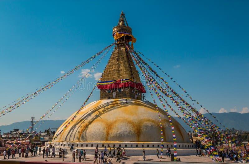 Boudhanath świątynia w Kathmandu obrazy stock