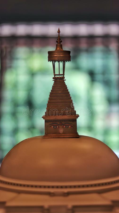 Boudhanath Stupa的微型版本 免版税库存照片