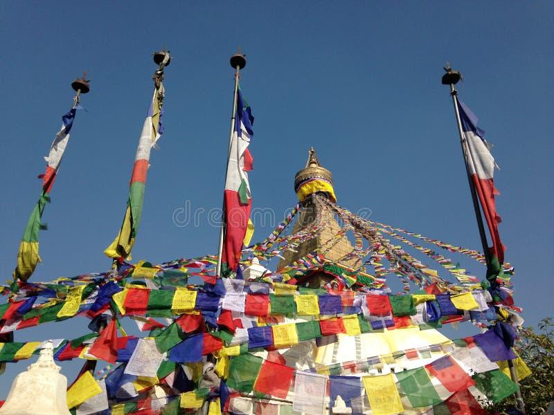 Boudhanath Stupa в Катманду стоковые изображения rf