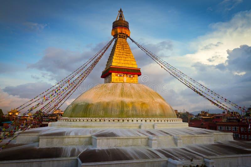 Boudhanath Stupa fotos de archivo