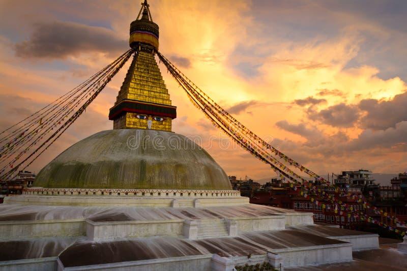 Boudhanath Stupa imagens de stock