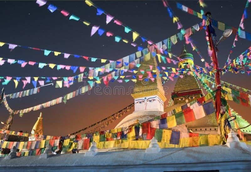 Boudhanath-stupa lizenzfreies stockbild