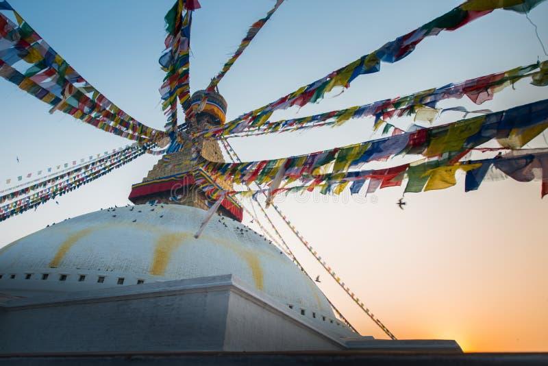Boudhanath-stupa stockfoto