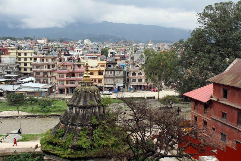 Boudhanath Stupa as seen from far away Pashupatinath stock photos