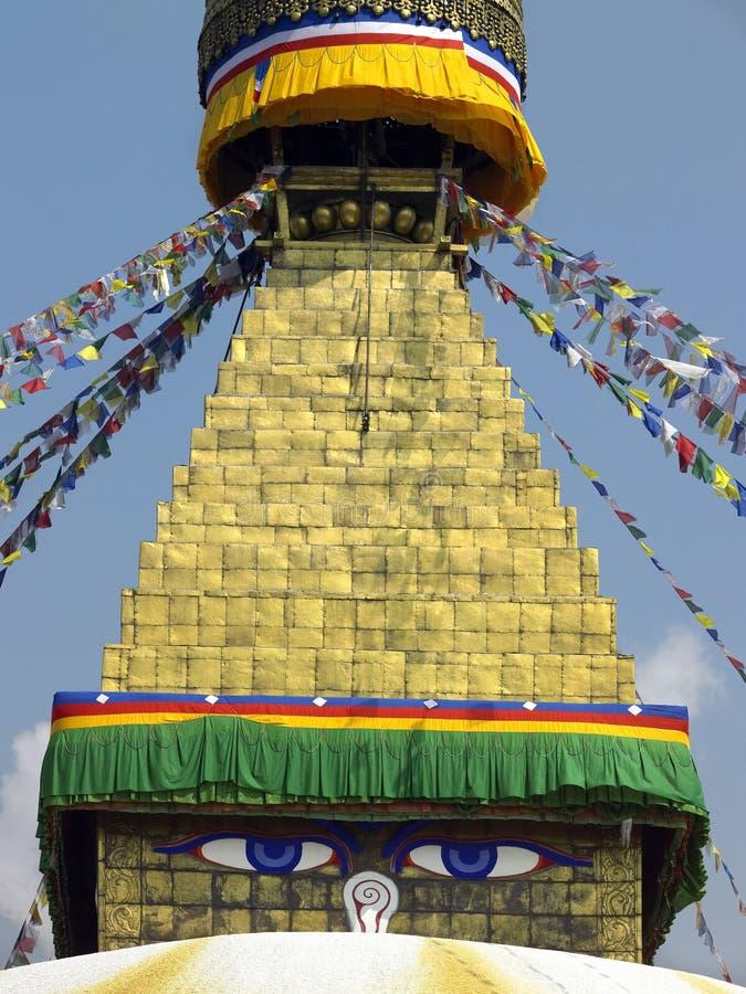 Boudhanath Stupa budista - Kathmandu - Nepal imagem de stock royalty free